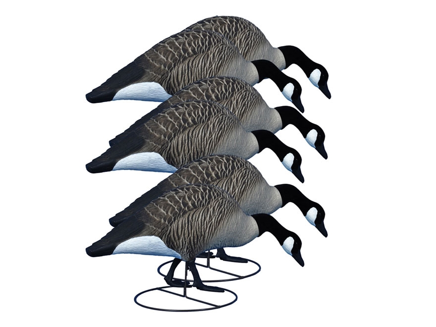 Higdon Alpha Magnum TruFeeder Full Body Canada Goose Decoy Polymer Pack of 6