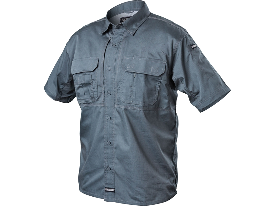 BLACKHAWK! Men's Pursuit Button-Up Shirt Short Sleeve Poly/Cotton Ripstop