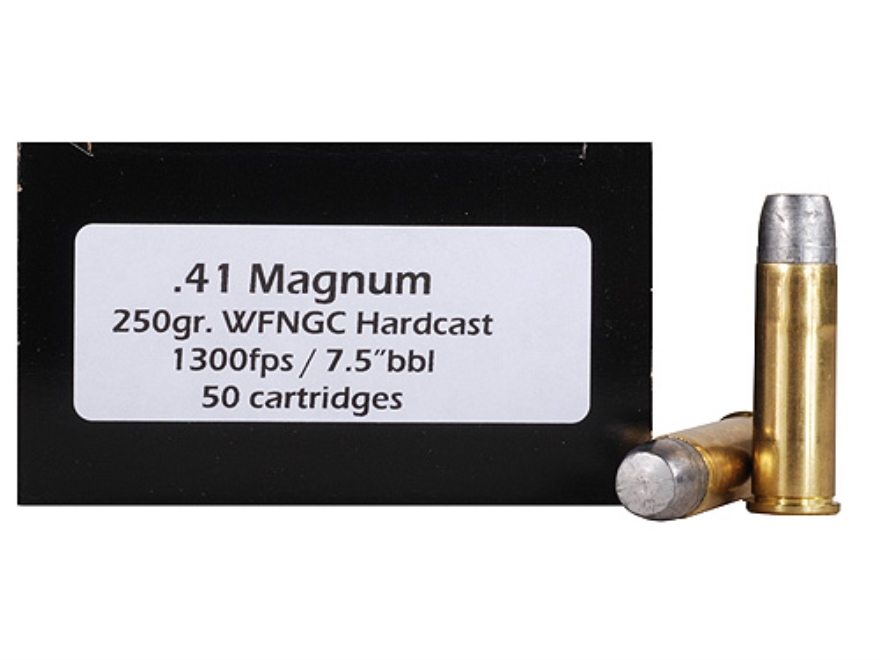 Doubletap Ammunition 41 Remington Magnum 250 Grain Hard Cast Lead Wide Flat Nose Gas Ch...