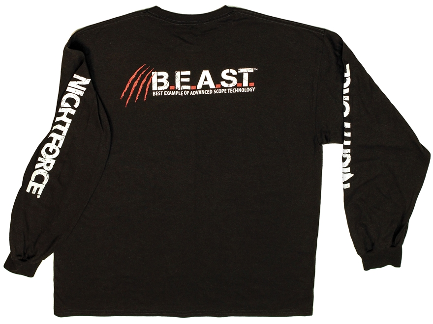 Nightforce BEAST T-Shirt Long Sleeve Cotton Black
