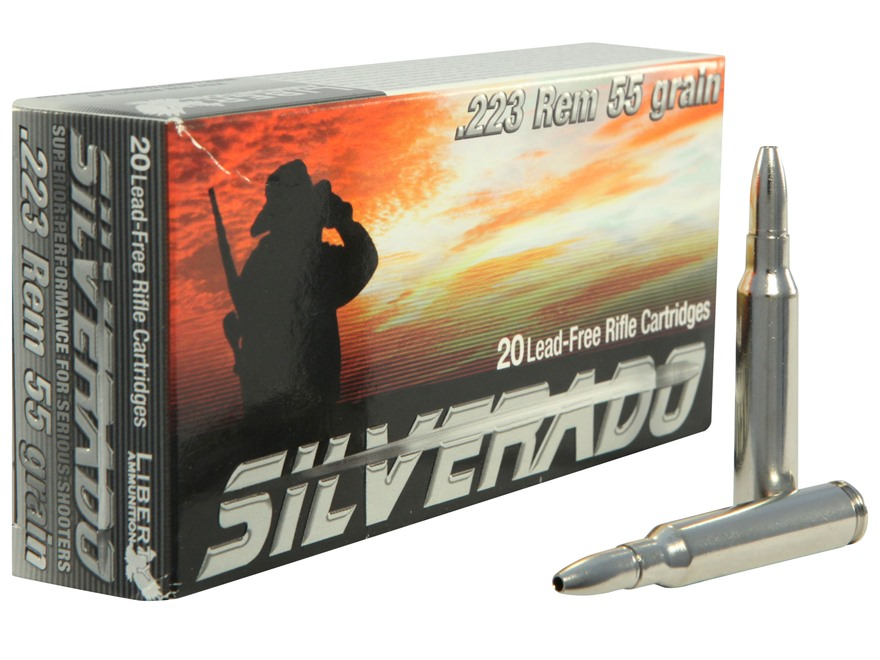 Liberty Silverado Ammunition 223 Remington 55 Grain Fragmenting Hollow Point Lead-Free ...