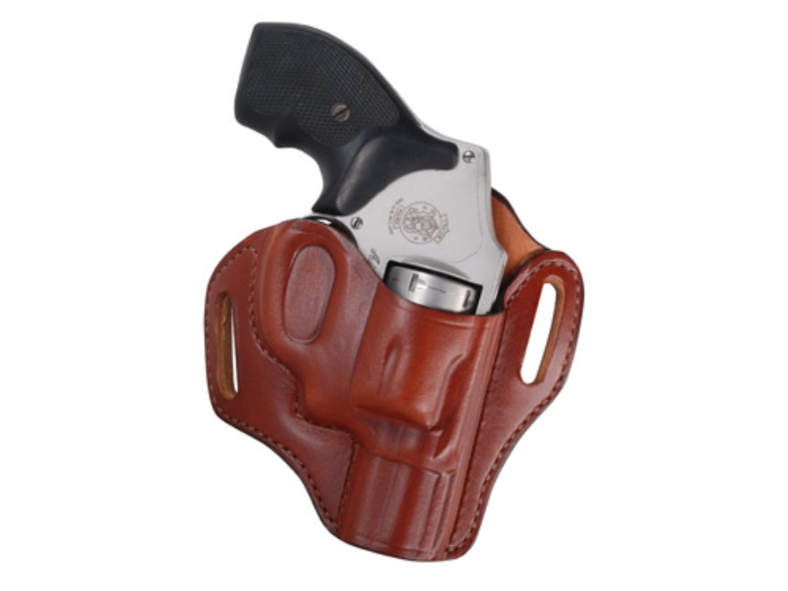 Bianchi 57 Remedy Outside the Waistband Holster Right Hand S&W J-Frame Leather