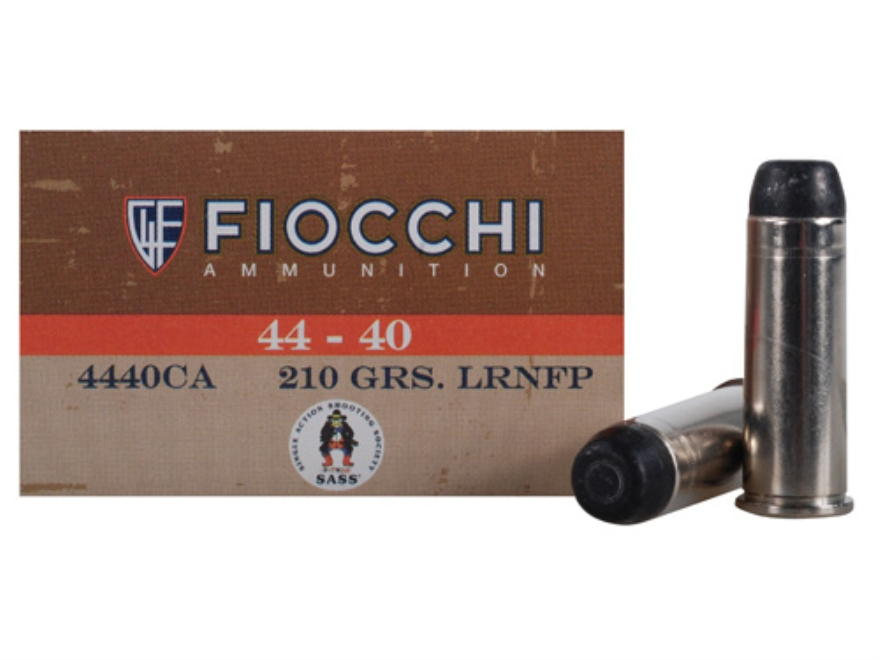 Fiocchi Cowboy Action Ammunition 44-40 WCF 210 Grain Lead Round Nose Flat Point Box of 50