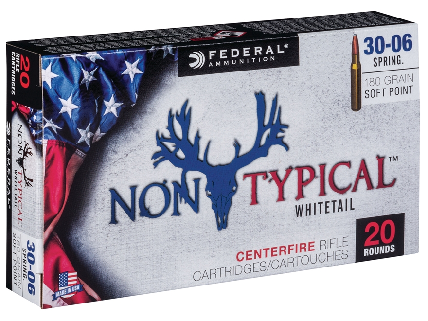 Federal Non-Typical Ammunition 30-06 Springfield 180 Grain Soft Point Box of 20