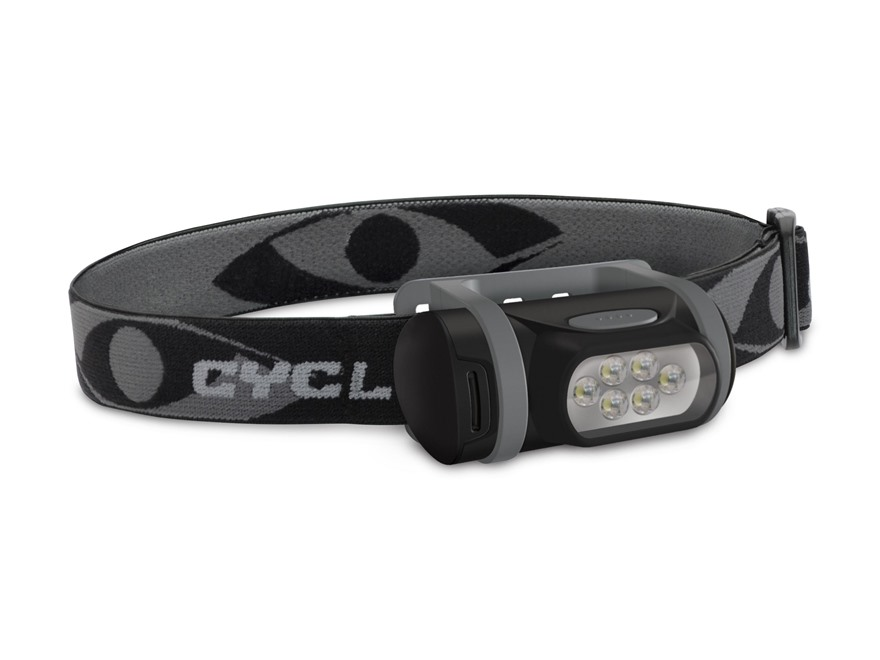 Cyclops Titan Headlamp LED with 3 AAA Batteries Polymer Black and Gray