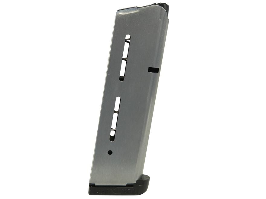 Wilson Combat Magazine with Base Pad 1911 Government, Commander 40 S&W 9-Round Stainles...