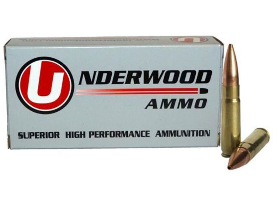 Underwood Ammunition 300 AAC Blackout Subsonic 220 Grain Match Hollow Point Boat Tail B...