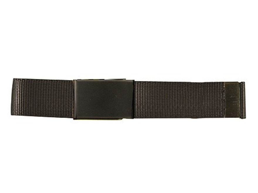 "The Outdoor Connection MaxBelt Belt 1-1/4"" Black Brass Buckle Nylon Black 54"""
