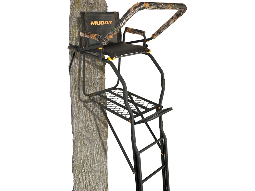 Muddy Outdoors The Skybox 20' Single Ladder Treestand Steel Black