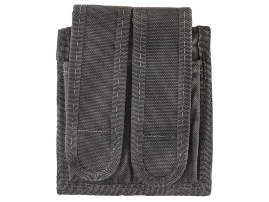Uncle Mike's Universal Double Magazine Pouch Hook-&-Loop Fastener Nylon Black