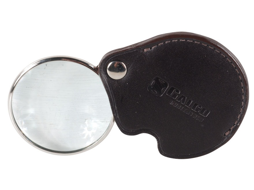 Galco Folding Pocket Magnifying Glass 3X Leather Brown