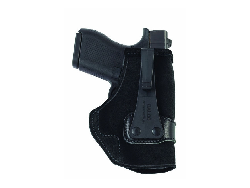 Galco Tuck-N-Go Inside the Waistband Holster Right Hand Glock 26, 27, 33 Leather Black