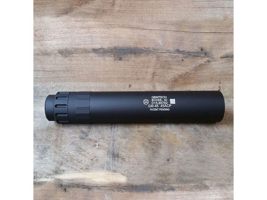 """Gemtech GM-45 Inert Display Suppressor .578""""-28 Threaded Aluminum Matte"""