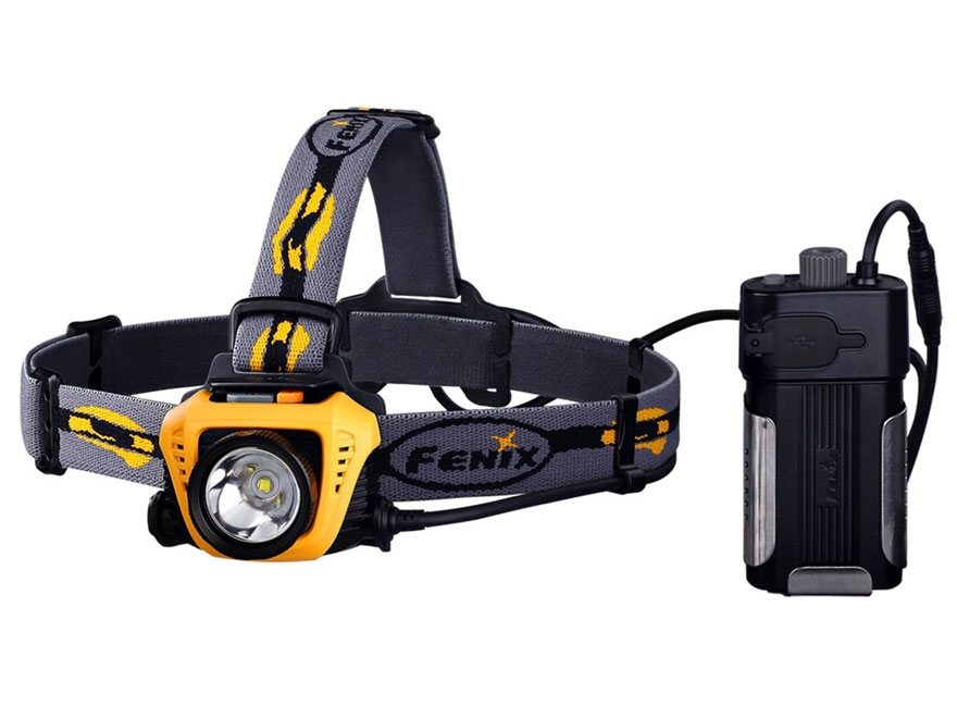 Fenix HP30 Headlamp LED Requires 2 18650 Rechargeable Li-ion or 4 CR123A Batteries Alum...