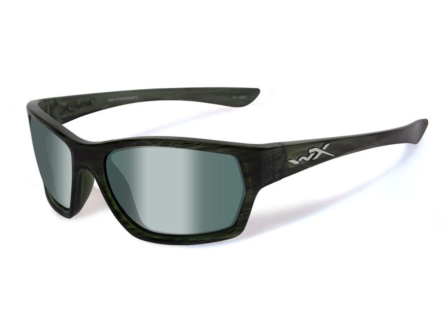 Wiley X Black Ops WX Moxy Polarized Sunglasses Olive Stripe Frame Platinum Flash Green ...