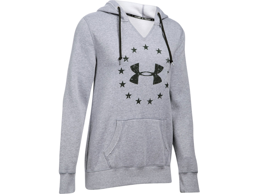 Under Armour Women's UA Freedom Favorite Fleece Logo Hoodie Cotton and Polyester