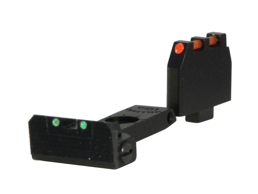"Williams Fire Sight Set Ruger Mark II, Mark III 6-7/8"" Taper Barrel Fiber Optic Green"