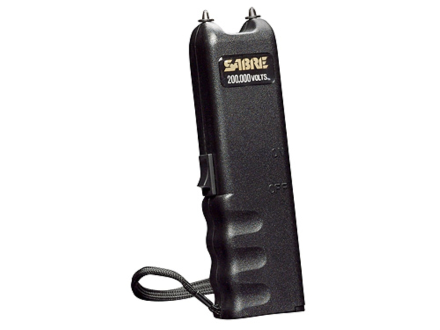 Sabre 200,000 Volt Stun Gun uses Two 9 Volt Batteries (Not Included) Polymer Black