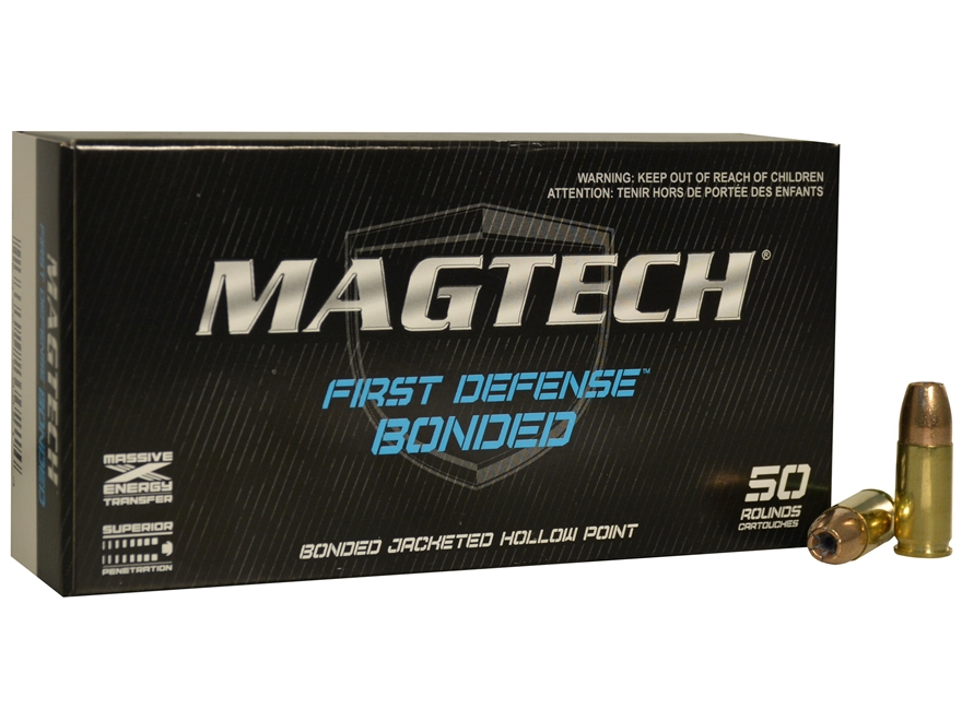 Magtech First Defense Bonded Ammunition 9mm Luger 147 Grain Bonded Hollow Point