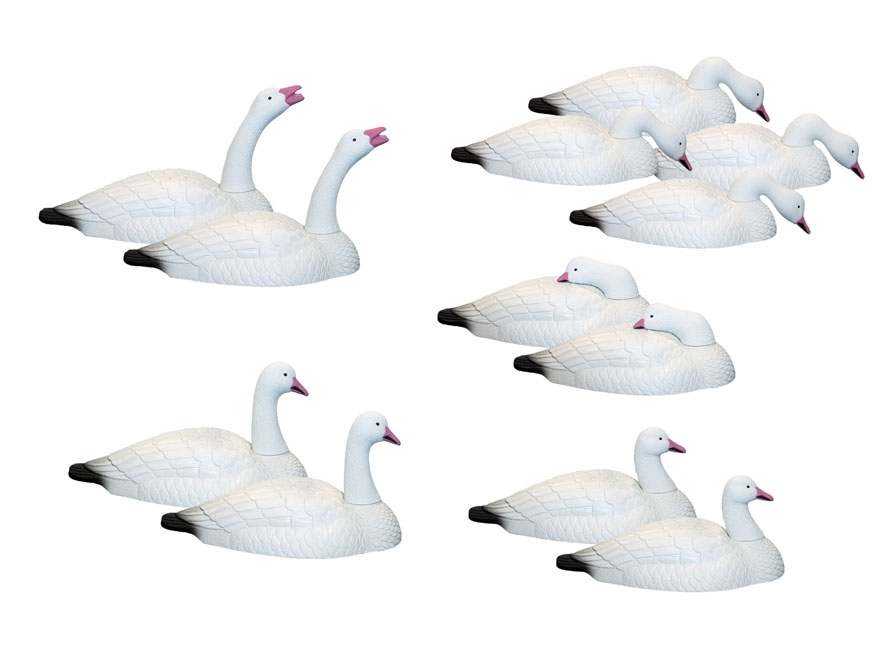 Hard Core Touchdown Snow Goose Shell Decoy Pack Of Mpn