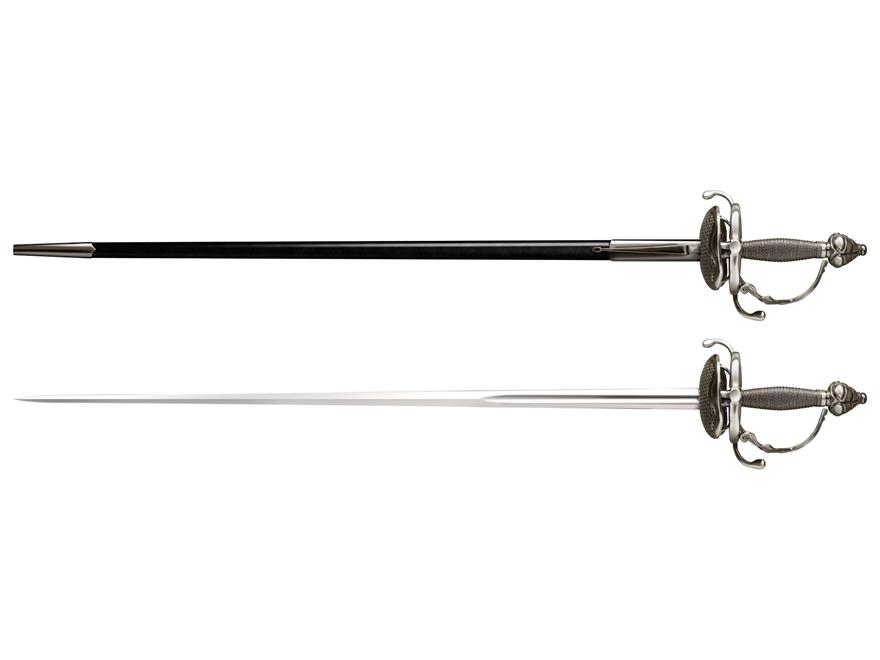 """Cold Steel Cavalier Rapier 36"""" 1055 Carbon Steel Blade Steel Handle"""