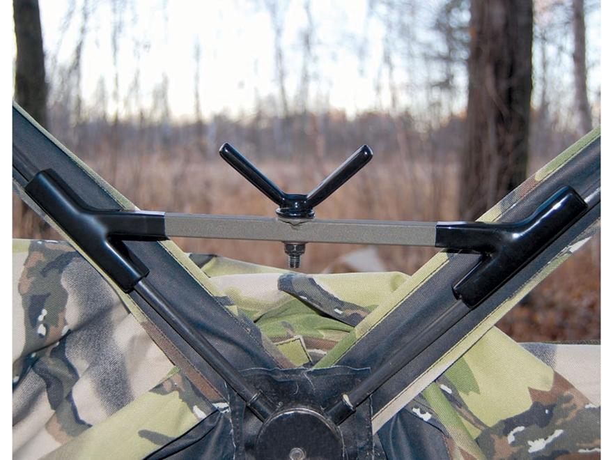 HME Easy Aim Ground Blind Gun Rest Steel Brown