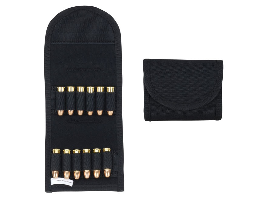 Uncle Mike's Belt Slide Folding Pistol Ammunition Carrier 12-Round Nylon Black