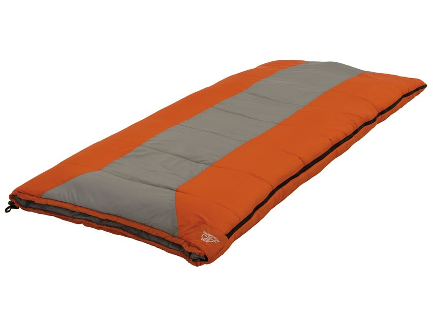 ALPS Mountaineering Crater Lake 0 Degree Sleeping Bag Polyester Gray and Rust