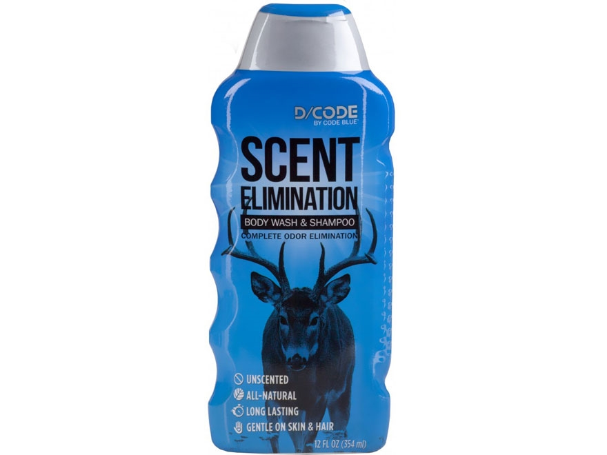 Code Blue D-Code Scent Elimination Shampoo and Body Wash Liquid 12 oz