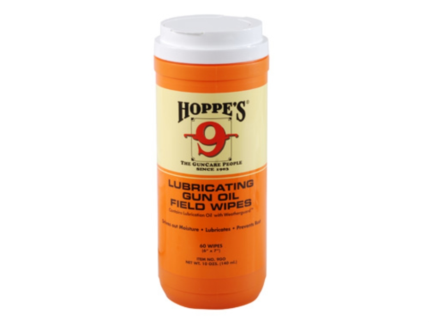 Hoppe's Large Lubricating Gun Oil Field Wipes 60 Count