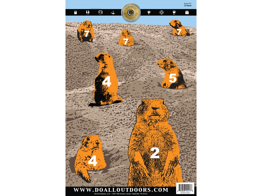 "Do-All Prairie Dog Town 12"" x 18"" Paper Target Pack of 10"