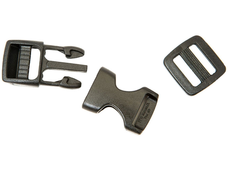 "Gear Aid Side Release Replacement Buckle Kit 5/8"" Polymer Black"
