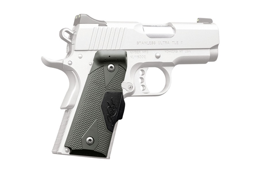 Crimson Trace Lasergrips 1911 Compact (Officer) Front Activation Polymer with Kimber Logo