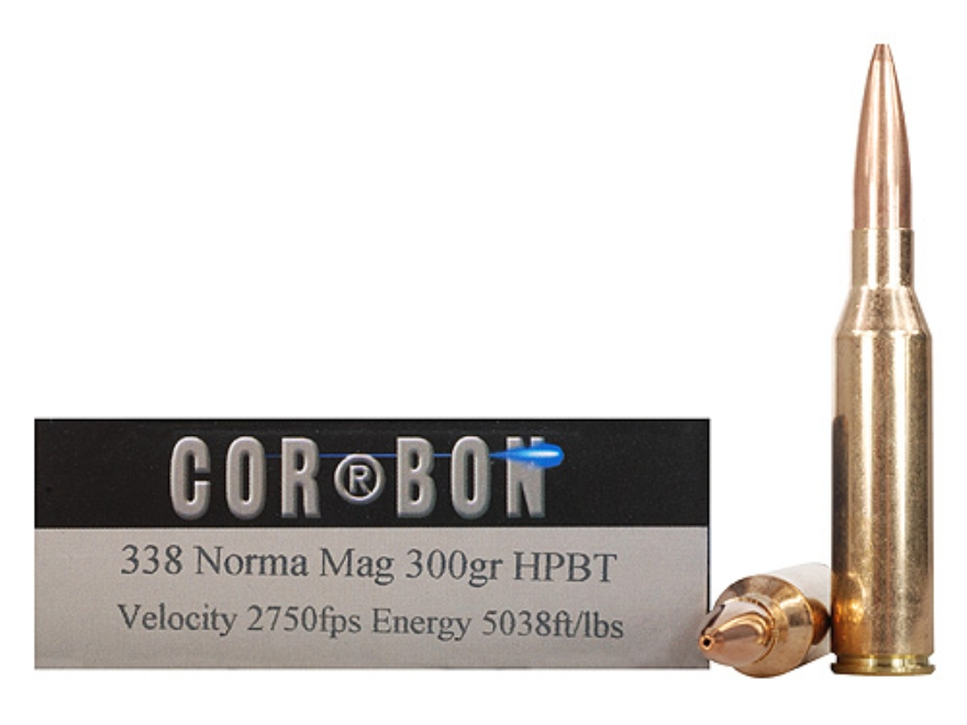 Cor-Bon Performance Match Ammunition 338 Norma Magnum 300 Grain Hollow Point Boat Tail ...