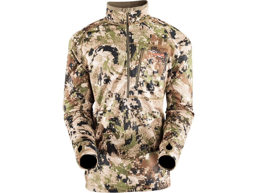 Sitka Gear Men's Traverse Zip-T Shirt Long Sleeve Polyester