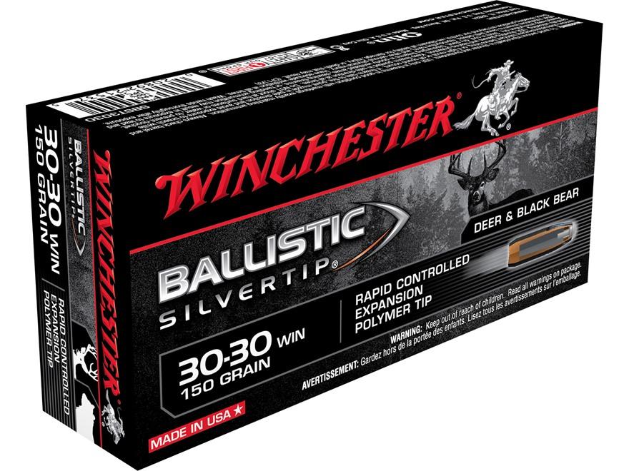 Winchester Ballistic Silvertip Ammunition 30-30 Winchester 150 Grain Rapid Controlled E...