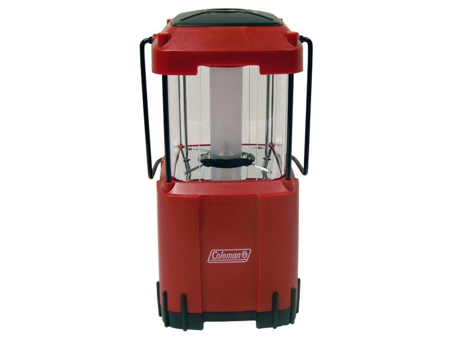 Coleman Pack-Away Lantern LED Requires 8 D Batteries Polymer Red