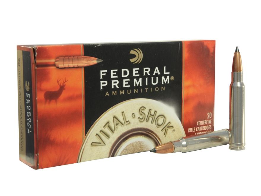 Federal Premium Vital-Shok Ammunition 338 Winchester Magnum 225 Grain Trophy Copper Tip...