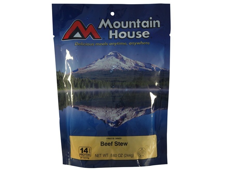 Mountain House Family Size Beef Stew Freeze Dried Food 5 Servings
