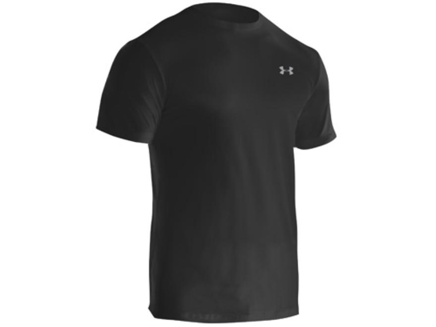 Under Armour Men's Original Crew Undershirt Short Sleeve Synthetic Blend Black Medium 3...