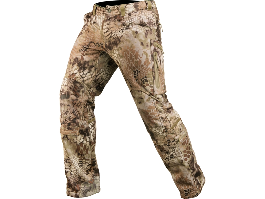 Kryptek Men's Cadog Softshell Windproof Pants Polyester Highlander Camo 2XL