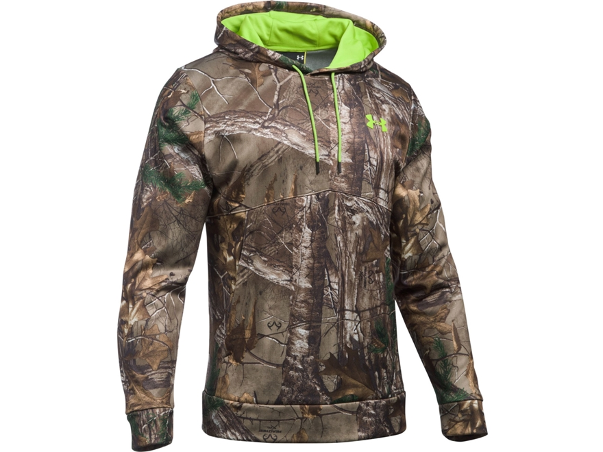 Under Armour Men's UA Scent Control Franchise Camo Hoodie Polyester Realtree Xtra Camo XL