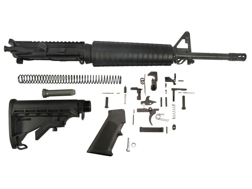 "Del-Ton Mid-Length Carbine Kit AR-15 5.56x45mm NATO 1 in 7"" Twist 16"" Chrome Lined Heav..."