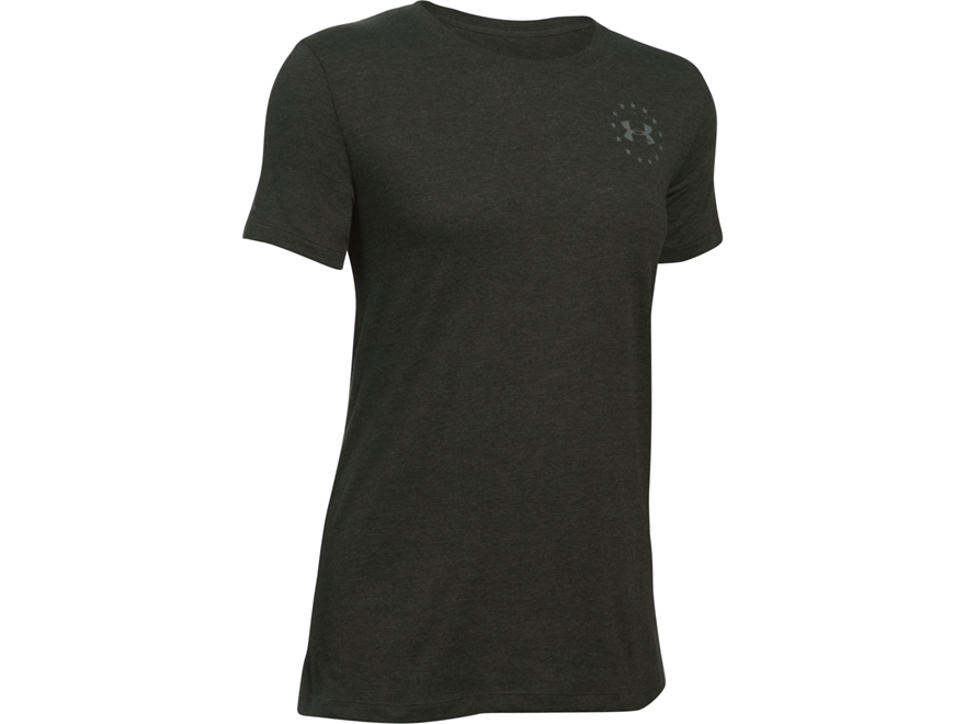 Under Armour Women's UA Freedom Flag T-Shirt Short Sleeve Cotton and Polyester