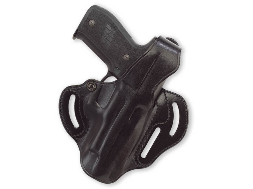 Galco COP 3 Slot Holster Right Hand Sig Sauer P250, P320 Compact 9mm, 40 S&W Leather Black