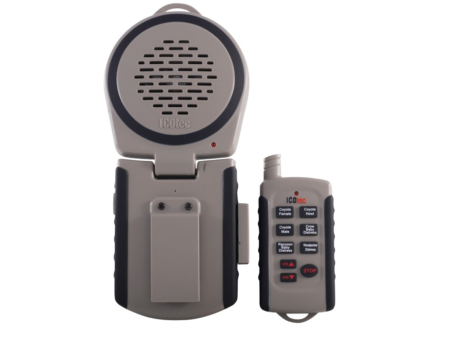 ICOtec GC100 Series I Electronic Predator Call with 6 Digital Sounds Tan and Black
