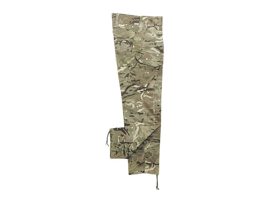 Military Surplus British Warm Weather Pants Multi-Terrain Pattern Camo L