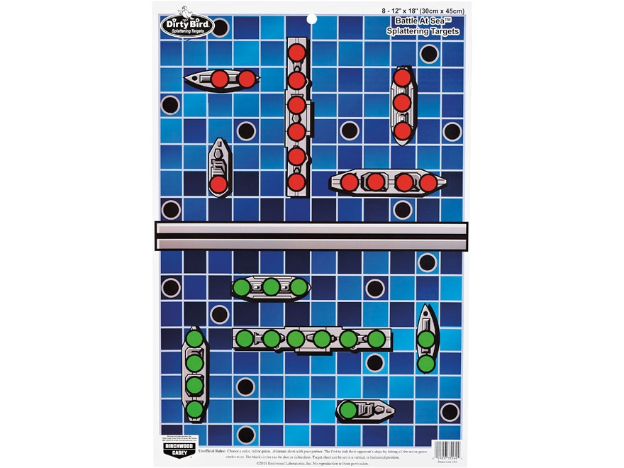 "Birchwood Casey PREGAME Battle at Sea Target 12"" x 18"" Pack of 8"