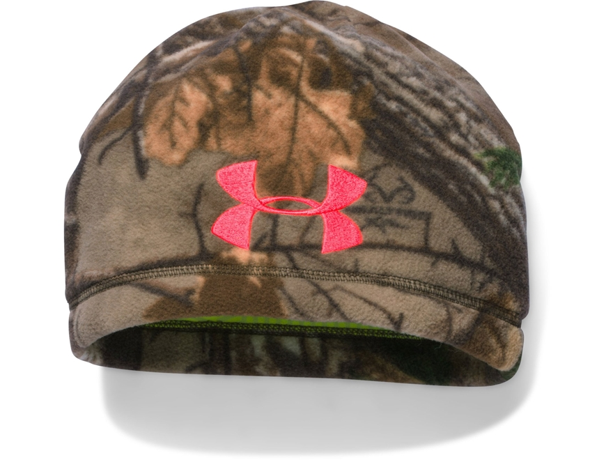 Under Armour Women's ColdGear Infrared Scent Control Beanie Polyester Realtree Xtra Camo