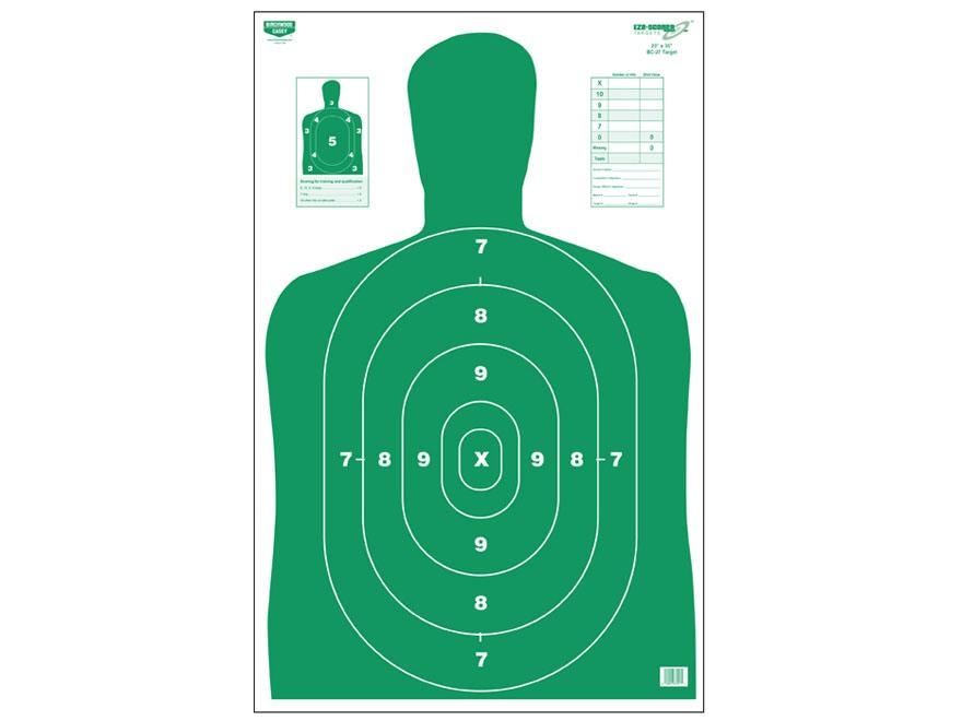 """Birchwood Casey Eze-Scorer BC27 Green Targets 23"""" x 35"""" Pack of 5"""